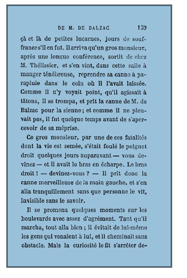 Canne de Balzac
